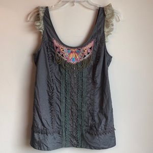 Sweet by Miss Me embroidered tank